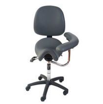 saddle seat with swing arm and back