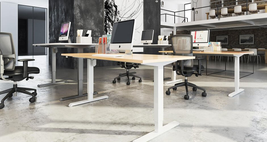 Adjustable Standing Desks | Sit & Stand Desks - Back Centre