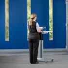Pedestal Adjustable Standing Desk