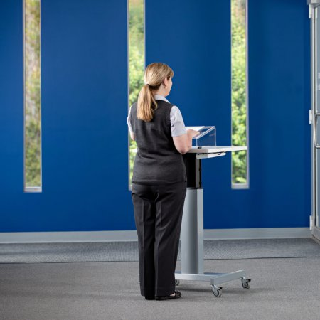 Pedestal Adjustable Standing Desk
