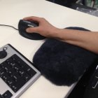 Blyss Rest Sheepskin Mouse Wristrest