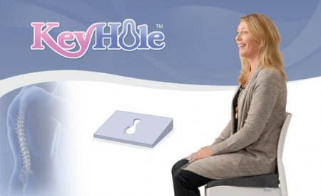 keyhole cushion