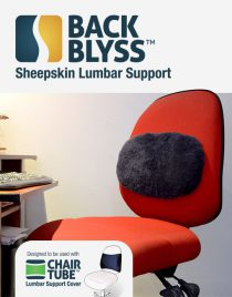 BackBlyss sheepskin lumbar support kit