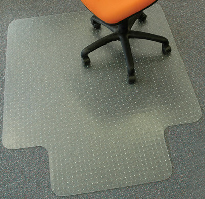 Chair mats range for carpeted floors
