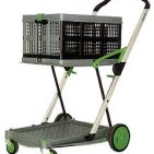Clax Cart 2 Tier folding trolley (Including One crate)