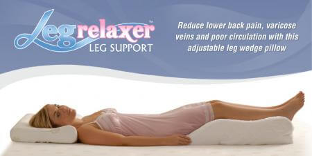 Leg Relaxer - Contoured leg wedge support pillow